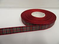 Red Royal Stewart Tartan Ribbon 2 metres or 25 metres (Full Roll) double sided scotish 12mm, 16mm, 25mm & 38mm